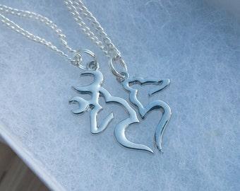Buck & Doe Couples Necklace Set HUGE SALE