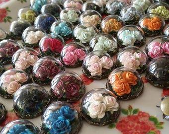 Custom Terrarium Paradise Rose Necklace
