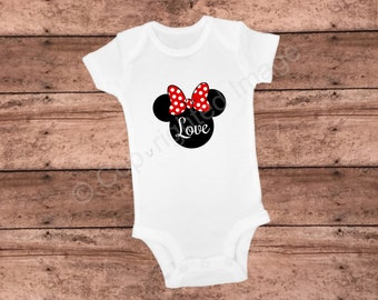 Onesie - Minnie Mouse - Love