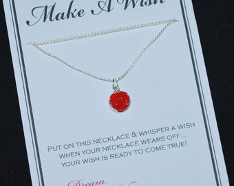 Red Flower Wish Necklace - Buy 3 Items, Get 1 Free