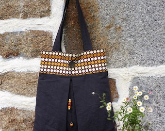 tote bag cotton/bag accessory/retro vintage/bag / purse / Tote / shopping bag / gift for her / bee kouz