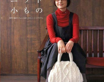 Knitting ebook Crochet ebook Japonese craft book Knitting bag pattern Knitting poncho Knit scarf Crochet bags