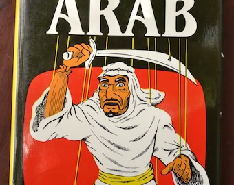 """Signed Copy """"The TV ARAB"""" by Jack G. Shaheen Hardcover Book Signed By Author Copyright 1984"""