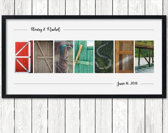 Alphabet Letter Photography Art Personalized Anniversary Gift for Man 10 Year Unique Wedding Present Custom Grandparent Idea Romantic Poster