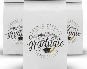 Graduation Favors, Class of 2018, High School, Grad Candy Bag, Favor Box, College Grad, Candy Bag, Favor Bag