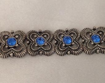 Beautiful Royal Blue Rhinestone Bracelet