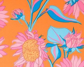 Free Spirit Valori Wells Sunflower Pink & Orange Fabric 1 Yard