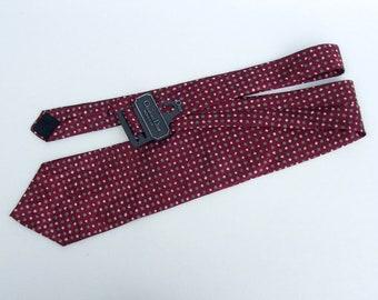 Christian DIOR Tie, Christian Dior Monsieur Silk Necktie, Red Silk Tie, Vintage Designer Necktie