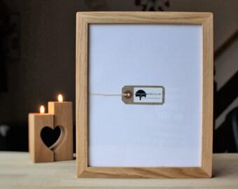 8x10 Oak frame - Wooden photo frame - for pics 10x8 - custom wood frames
