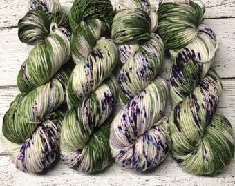 Trevor Morgan DK, Hand Dyed Yarn, DK weight, Superwash Merino, Number 3, 8 ply, Hand dyed, Light Worsted, 100g, Mossy Forest