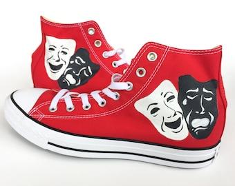 Theater Masks Custom Converse