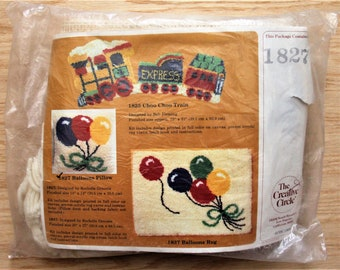 The Creative Circle Kit No. 1827 Balloons Pillow 1981 Children Toddlers Room