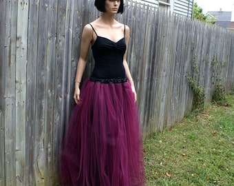 Burgundy Wine wedding Formal Prom bridmaid tutu Tulle Skirt  ...All Adult Sizes... MTCoffinz