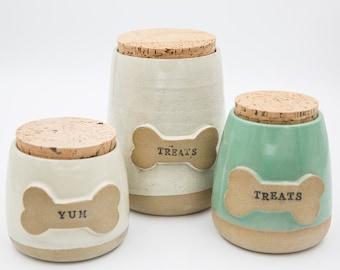 Dog treat jars, Dog gifts, Personalized pet gifts, Dog treats, Handmade gifts, Pet urns, Dog treat holder , Handmade pottery, Ceramic jars