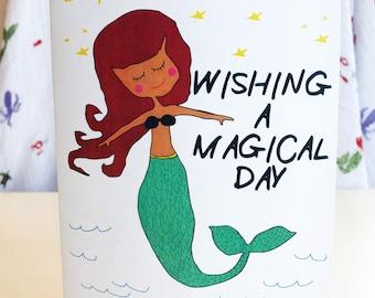 Magic Day Mermaid Card