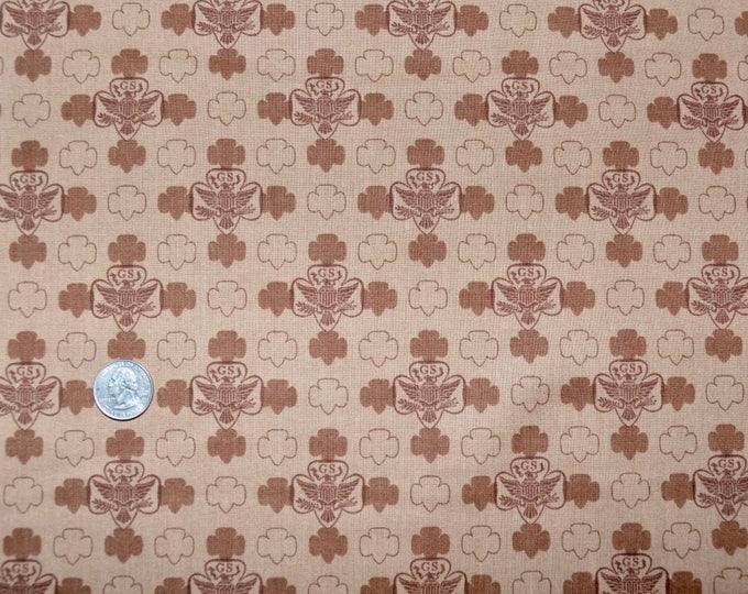 New Posting!   Robert Kaufman Registered GIRL SCOUT Fabric -  100% Kona Cotton - RARE