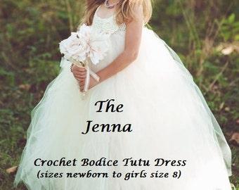 INSTANT DOWNLOAD The Jenna - Girls Crochet Tutu Dress PDF Pattern