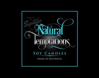 Custom product label design, candle label design, product label, sugar scrub logo design, shampoo label design, FREE PSD source file