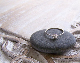 Silver Stack Ring - Hammered Sterling Silver Ingot Stack Ring - Ingot Stack Ring - Custom Stack Ring - Recycled Sterling Silver Ring