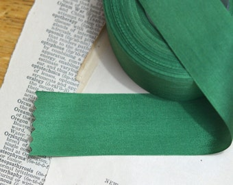 emerald green silk ribbon