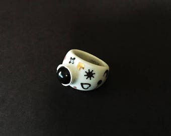 Porcelain Ring 8US