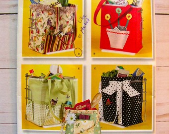Shopping Bags for Groceries | Four Styles | OSZ | Faith Van Zanten Design | Simplicity 2352 | uncut factory folded sewing pattern