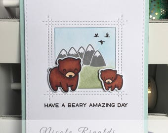 Friendship Greeting Card with Bears