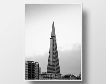 architectural black and white san francisco photography cityscape print san francisco art fine art photography san francisco print 11X14