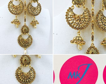 Chumka Earrings and Tikka Set