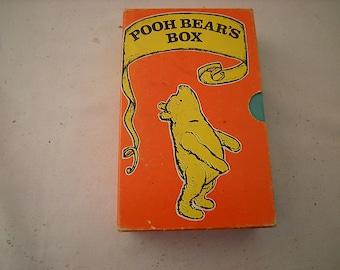 vintage Pooh Bear's box-book set-Pooh Bear's Box-4books-child library-classic children stories-fantasy-1975 printing-