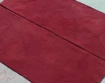 Teint à la main tapis de laine de - laine mûrier - tissu accrocher - applique et l'artisanat - primitive d'artisanat - quilting violet - couture - - 031