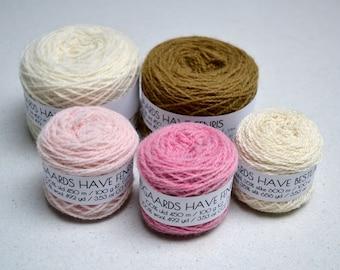 Naturally Dyed Folkvang Knitting Kit - green-brown and pink