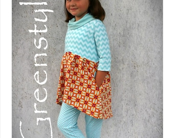 Laurelette Dress or Tunic PDF Sewing Pattern in Sizes 12 months to 14 years