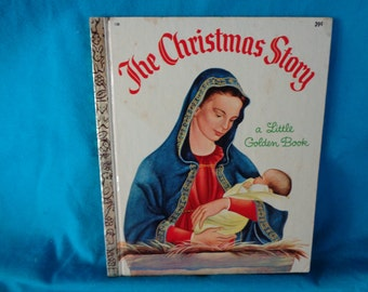 vintage 1969 a Little Golden Book The Christmas Story told by Jane Werner