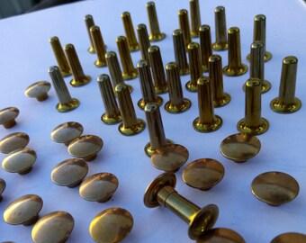 Long stems 1P11/15 antique copper Rivets trumpets