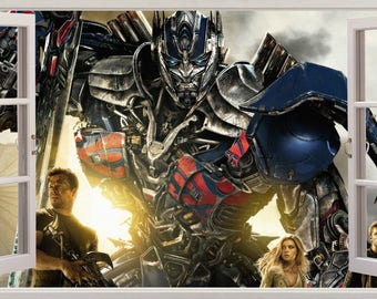 Optimus Prime Transformers 3D Effect Wall Stickers Art Decals 545