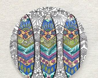3 Surf Boards Glass Ornament & Suncatcher, Surfboards, Surfing