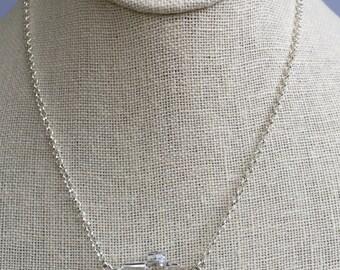 Swarovski Crystal Cross Necklace, Sterling Silver