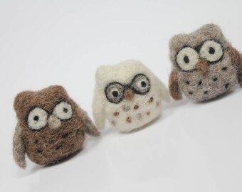 Needle felted Teeny owl
