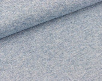 Lightweight knitting fabric Monaco Sky blue Heather (9.90 EUR/meter)