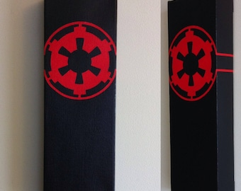 Star Wars Galactic Empire Canvas Paintings Set (2; Galactic Empire x2)