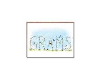 Grams Vine Notecards - Mother's Day cards - Garden Vine Stationery
