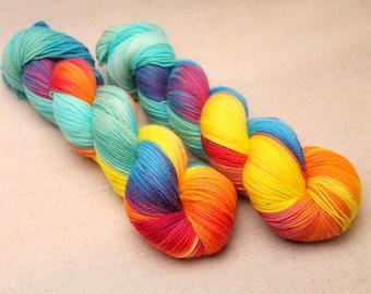 hand dyed yarn 'Paradise Sunset' DK