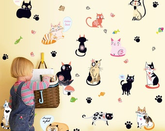 Cat Wall Stickers Decals AW7093