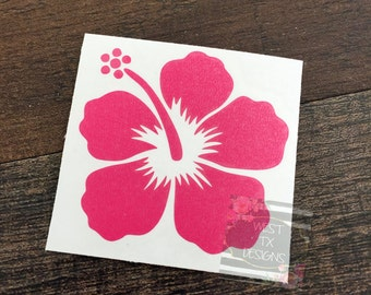 Hibiscus Flower Decal | Hibiscus Car Decal | Hibiscus Flower | Flower Decal | Flower Car Sticker | Hibiscus Sticker | Yeti Tumbler Decal