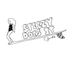 Steezy Does It Surf Art Print