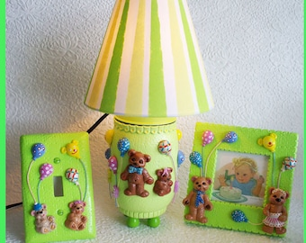 Baby  Night Lamp, Frame and Switch Plate Set