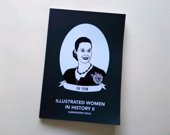 Illustrated Women in History zine issue II submissions diy publishing feminist comp zine DIGITAL PDF