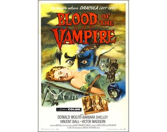 Blood of the Vampire Movie Poster Print - 1958 - Horror - One (1) Sheet Artwork
