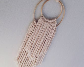 PALE PINK  Wool Wall hanging
